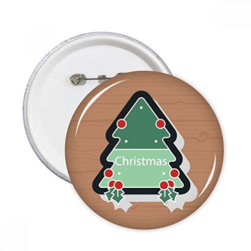 DIYthinker Botón con el icono de dibujos animados de navidad Árbol pernos redondos insignia 5pcs regalo de la decoración Ropa Multicolor SG