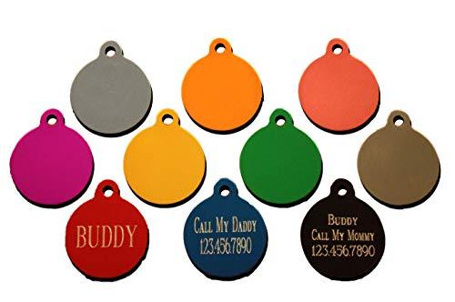 PET Supplies Quality Custom Engraved Circle Tag Pet ID Identification