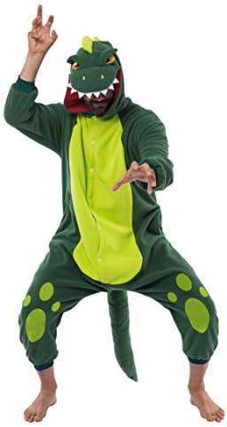 Spooktacular Creations Dinosaur Pajamas Unisex Plush Cosplay Halloween Animal Costume Onesie product image