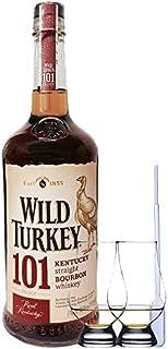 Wild Turkey 101 Proof Bourbon Whiskey 0,7 Liter  2 Glencairn Gläser  Einwegpipette 1 Stück