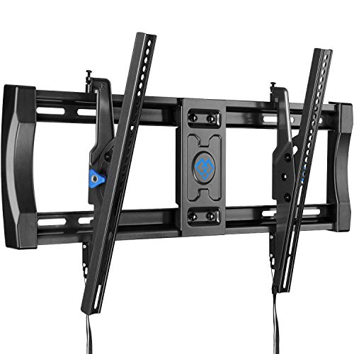 PERLESMITH Tilting TV Wall Mount Bracket for Most 40-82 Inch LED LCD OLED 4K Curved Flat Screen TVs - 12 ° Tilt Mounting Bracket with VESA 600x400mm Holds up to 135 LBS, Can Be Leveld PSLT3