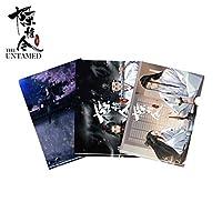 3PCS / SET悪魔のグランドマスターThe Untamed Chen Qing Ling Original Lan Wangji Wuxian Yibo Xiao Zhan File Folder Gift