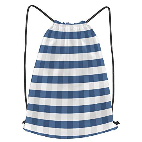 fudin Unisex Wasserdicht Kordelzug Rucksack nahtloses Muster trendige stilvolle Zelle Gingham Turnbeutel Sporttasche für Yoga Freien Schule Strand Schwimmen