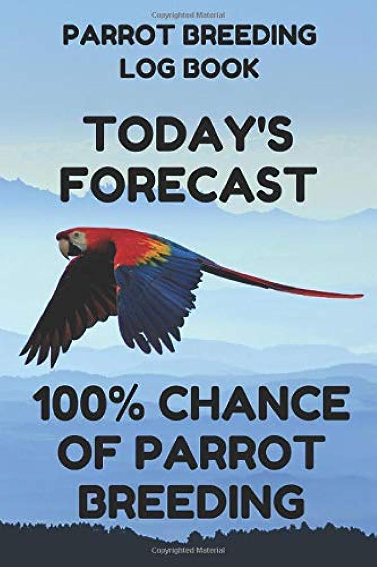 延期する想像力海岸Parrot Breeding Log Book: Record Book for Parrot Bird Breeders, 6 by 9 Inches, Funny Forecast Blue Cover