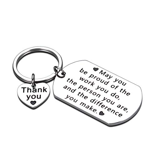 Coworkers Friend Boss Colleagues Keychain Gifts Leaving Going Away Farewell Good Bye Retirement Thank You Appreciation Birthday Work Office Holiday Christmas Gifts Women Men Female Male Inspirational