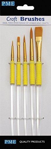 PME Craft - Juego de 5 pinceles para manualidades
