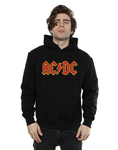 Générique AC/DC Homme Red Logo Sweat à Capuche Small Noir