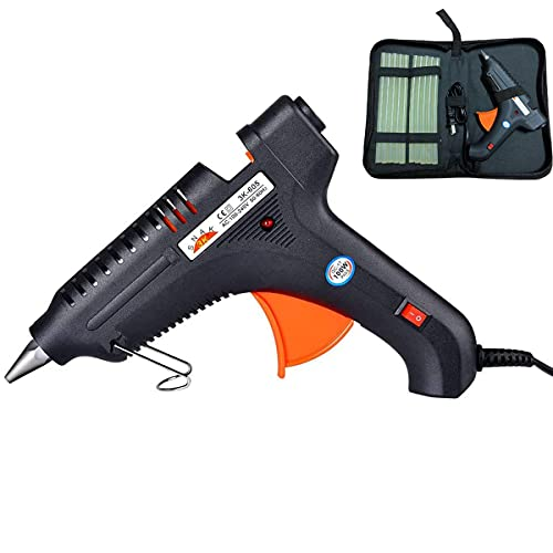 Hot Glue Gun with Carry bag 100W Hot Melt Glue Gun Set Rapid Heating Technology Flexible Trigger for DIY Small Arts Craft Projects Household Quick Repairs (10pcs Glue Sticks)