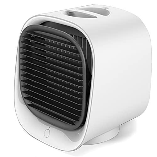 TRAACEM Mini Condizionatore d'Aria, Umidificazione Portatile USB con Luce Colorata, Desktop Air Cooler Multifunzione Summer Air Raffredding Fa