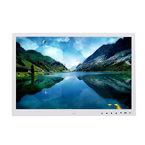 Digital photo frame 17 Inch Touch Button Electronic Photo Album Wall-Mounted LED Display Remote Control Advertising Machine Picture Music Video Ebook HDMI Black and White Photo Frame Accessories Album Dining Features Kitchen Photo