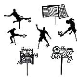 7 Piezas Decoración de Pastel de Fútbol, Deportes Fiesta Pastel Decoración, Torta de Fútbol,...
