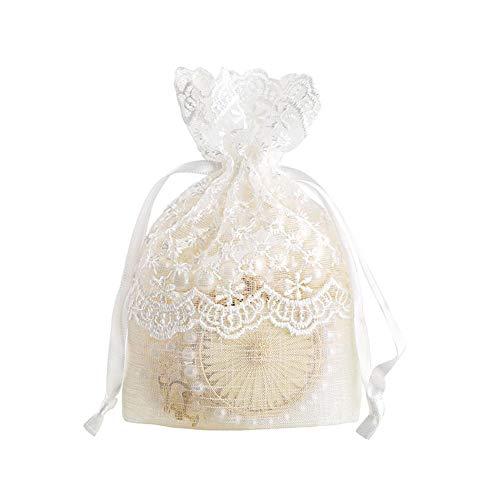 WXGY 5/10 PCS Bolsillos de Almacenamiento, Bolsos de joyería de Hilo de Perlas de Caramelo aretes de Anillo Pulsera Collar Organizador Bolsa