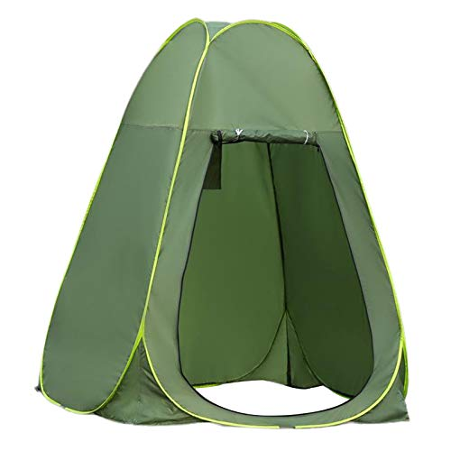 yotijar Campamento Tenda de Inodoro Up Ducha Tenda de privacidad para al Aire Libre cambiando Vestimenta Pesca baño Sala de Almacenamiento Carpas, 1,5 Metros Verde