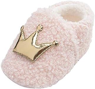 Luckycat Zapatos de Bebe Niñas Recién Nacido Primeros Pasos Antideslizante Suela Blanda Zapatos de Princesa