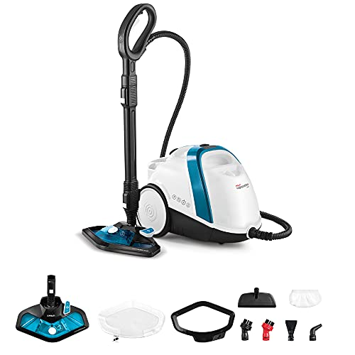 Polti Vaporetto Smart 100_B, Steam Cleaner, unlimited autonomy, high pressure boiler 4 Bar, kills and eliminates 99.99% * of viruses, germs and bacteria, 9 accessories