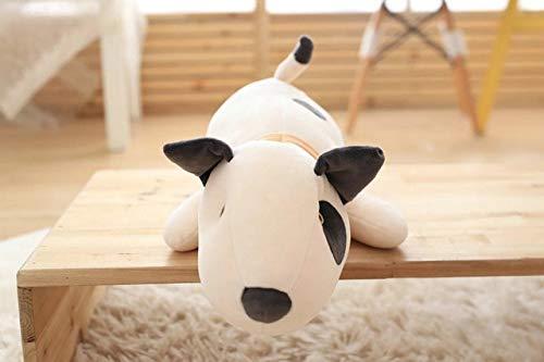 xiaoyuershop Bullterrier Hund Plüsch Baby Spielzeug Weiche Schlafkissen Gefüllte Puppen Für Neugeborene Kinder Kinder Geschenke Sitzkissen 53 cm A