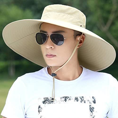 Hut Männlichen Visier Im Freien Großen Fischerhut, Sonnenhut Männer Sommer Angeln Sonnenhut UV-Schutz (Keine Sonnenbrille) (1)