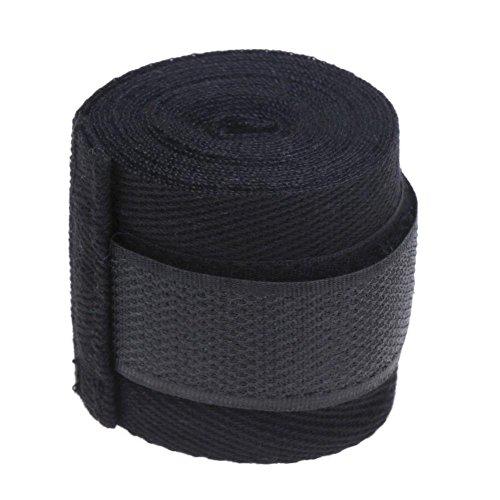 Demiawaking Bende Boxe di Sport Professionale Bendaggi Boxe Fasce Boxe per Muay MMA Taekwondo 2.5m (Nero)