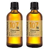 Naissance Aceite Esencial de Menta n. º 107 – 200ml (2x100ml) - 100% puro, vegano y no OGM.
