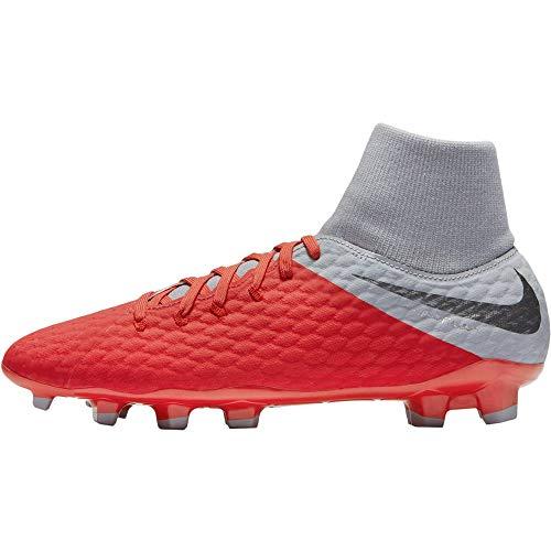 Nike Unisex-Erwachsene Hypervenom 3 Academy Df Fg Fitnessschuhe, Mehrfarbig (Lt Crimson/MTLC Dark Grey/Wolf Grey 600), 44 EU