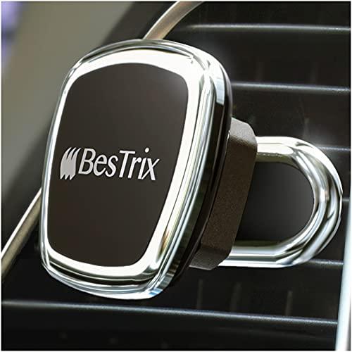 BESTRIX Magnetic Phone Car Mount Magnetic Car Cell Phone Holder | Magnet Car Phone Holder Compatible w/ iPhone 12 11 Pro/11 Pro Max/XS/XR/X/8/7,Galaxy S10/S10+/S9/S9 Note & More (Air Vent)