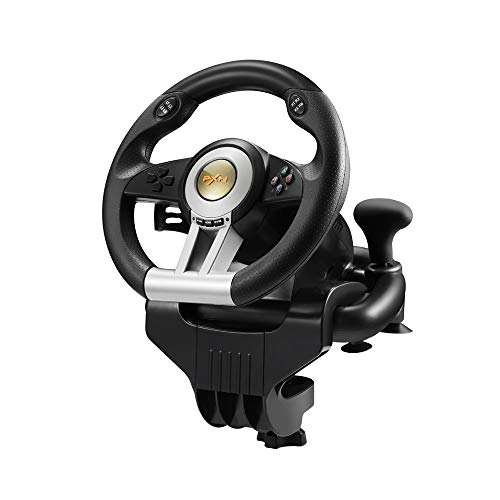 Volante Racing Wheel Universal, Paletas para Cambio Y Pedales (PS4, PS3, XboxOne, Switch) Soporte PC WIN7 WIN8 WIN10
