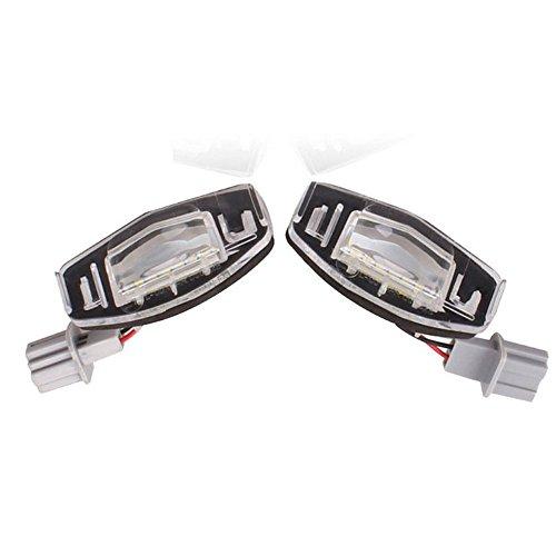 GOFORJUMP Nouvelle Arrivée 2X 18 LED 3528 SMD Nombre de Plaque D'immatriculation Lumière pour H/Onda Civic Ville Légende Accord Acura TL TSX MDX Blanc 2 W 12 V