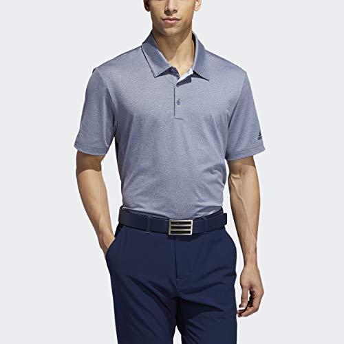 adidas Polo Heather Ultimate 2.0 Novelty para Hombre, Hombre, Polo, TM1435S9, Tech Ink Melange/Collegiate Navy, L