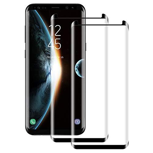 NUOCHENG [2 Piezas Cristal Templado para Samsung Galaxy S9 Plus,[9H Dureza] [HD Film] [Resistente a rayones] [Fácil de Instalar],Protector de Pantalla Samsung Galaxy S9 Plus