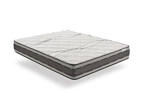 COSMOS | Satellite | Matratze 90x200 cm | Mehrschicht Memory Foam Latex Kaltschaum Hohe Anpassung | Idealer Komfort | Alle Schlaftypen | Rollmatratze Wendbar Sommer/Winter | Athermisch Belüftend