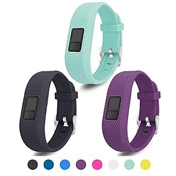 Mosstek Compatible with Garmin Vivofit 3/jr/jr 2 Bands Soft Silicone Replacement Sport Wristbands for Kids Girls Boys Women Men Small Large