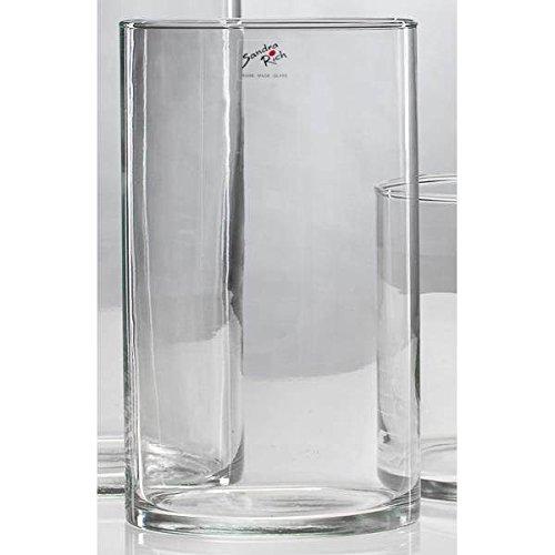 Sandra Rich Glasvase Dekoglas CYLI H. 20cm Ø 15cm Glas zylindrisch rund