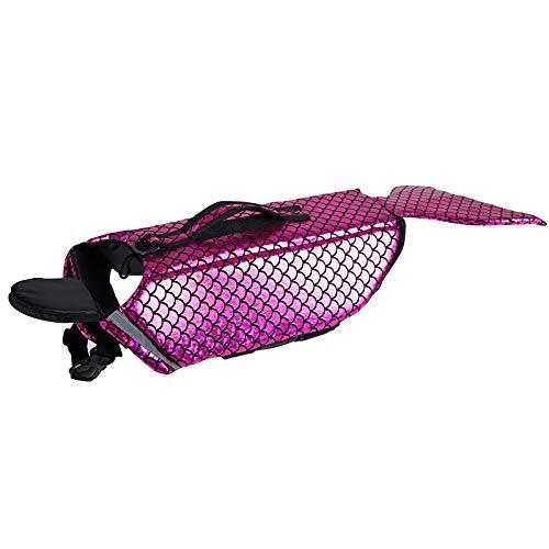 Noseeyou huisdier leven jas zeemeermin transformeren pak waterdichte hond veiligheid vest hond badpak outdoor training zwemmen pak rood