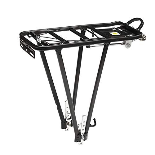 Rack de Bicicletas Aleación de Aluminio 50kg Bike Disc Freno Tronco de Equipaje Trasero para Bicicletas MTB Estante de Bicicleta Ciclismo Bicicleta Bastidores (Color : Mirror Seat)