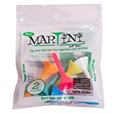 Martini Golf Tees 2' Durable Plastic Tees (6-Pack), Assorted Colors