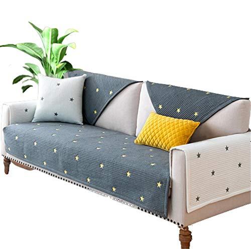 Four Season Universal Sofakissen 1/2/3/4-Sitzer Armlehnen Sofabezüge Universal Chaise Leder L Shaped Ecksofa,Gray,45x45cm Pillow case