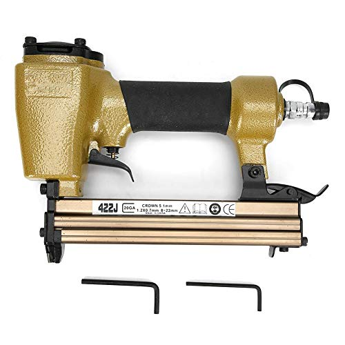 Pistola de clavos neumática Clavadora de aire 422J en forma de U de grado industrial y conector rápido de grapadora con entrada de aire de 1/4 de pulgada(422J)