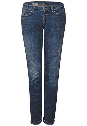 Preisvergleich Produktbild Street One Damen Slim Jeans 371200 Crissi,  Blau (Fancy Decorated Blue Wash 11309),  W27 / L32