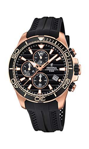 Festina Herren Chronograph Quarz Uhr mit PU Armband F20367/1