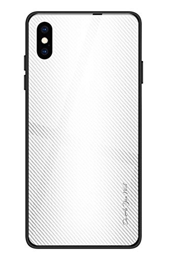 Alihtte Carcasa para iPhone XS Max, resistente a los arañazos con suave carcasa de TPU + carcasa de vidrio templado 9H [protección híbrida] carcasa para iPhone XS MAX