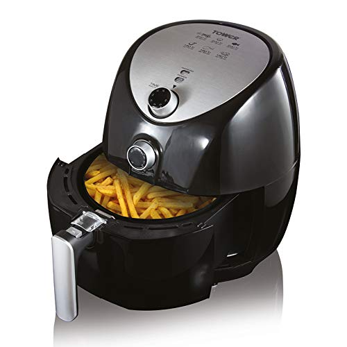 Tower T17021 Manual Air Fryer Oven with Rapid Air Circulation and 60 Min Timer,...