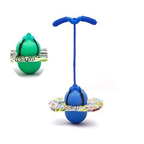Hüpfstange Pogo Jumper Ball, Pogo-Trichter-Pumpen-Springkugel-Fitness und Unterhaltung Ball Jump Trick-Bounce-Board-Luft-Tritten im Freien Körper-Gebäude-Fitnessstudio (90kg), blau ( Color : Blue )