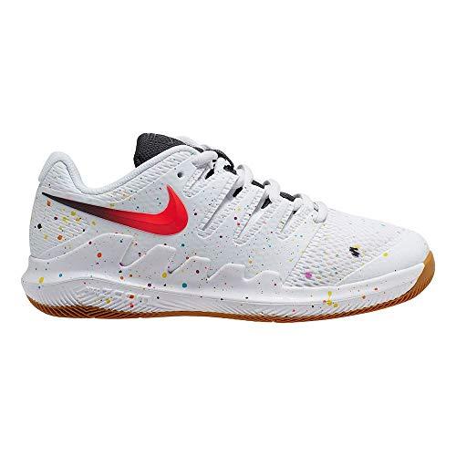 Nike Juniors` Vapor X Tennis Shoes White and Black