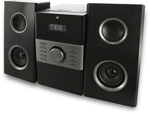 GPX HC425B Stereo Home Music System with CD Player & AM/FM Tuner, Remote Control Black