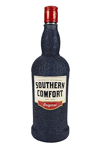 Southern Comfort Whiskey 0,7l 700ml (35% Vol) Bling Bling Glitzerflasche in schwarz -[Enthält Sulfite]