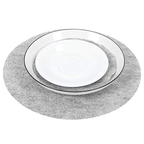 Felt Plate Separator, Lightweight Multiple Size Eco‑Friendly Stacking Protectors, for Restaurant Gray Kitchen Accessory Home(Gray, 24pcs)