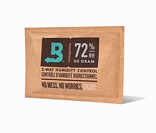 Boveda für Zigarren/Tabak | 2-Wege-Feuchtigkeitsregulierung mit 72 {ef7b54c4378951bd38125283876d9e58a353b2c3d2c8198cae931c16837bf697} relativer Feuchtigkeit | Größe 60 zur Verwendung für jeweils 25 Zigarren im Humidor | patentierte Technologie für Zigarren-Humidore | 1 Stück