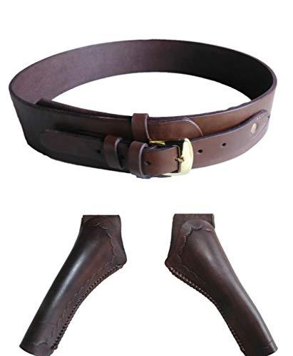 Holstergürtel Holstertaschen Westernholster Oldstyle Rindleder braun (46 inch, nur Gürtel)