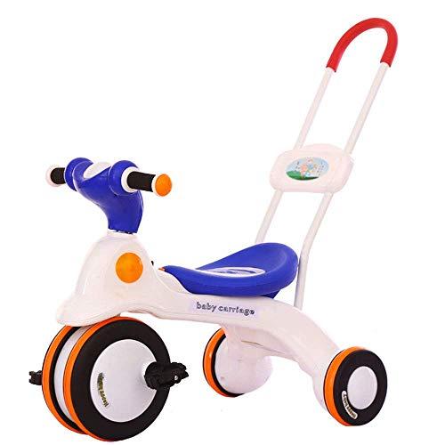 GCXLFJ Triciclo Bebe Triciclo for niños, Empuje Junto Trike con la manija de los Padres  Mango Desmontable Convierte en Triciclo Triciclo con Pedales for niños pequeños Edad 3-6 años (Color : A)