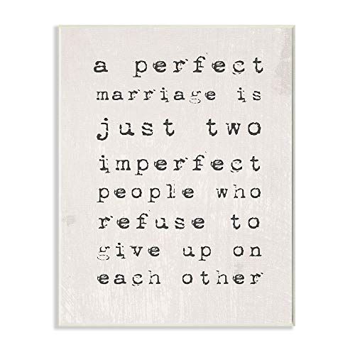 Stupell Industries A Perfect Marriage Wall Plaque, 10 x 15, Design by...